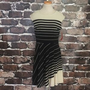 R&K Originals Black Tan Dress Cap Stripe Medium